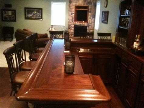 hand crafted black walnut home bar  jeremy belanger