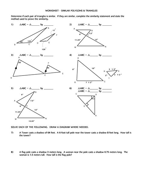 usable similar right triangles worksheet answers