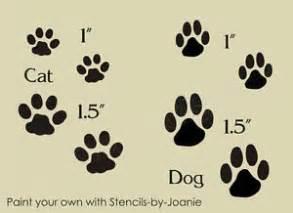 cat paw vs paw stencil cat paw prints scrapbooks puppy kitty sign ebay