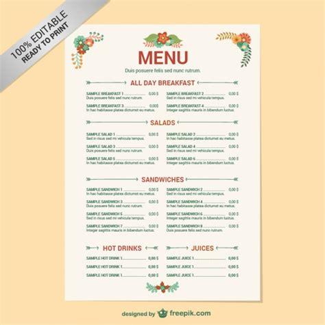 modele cuisine cagne modifiable modèle de menu de restaurant télécharger des vecteurs gratuitement