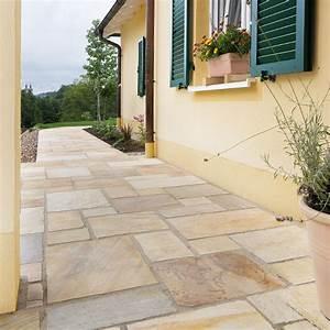 Terrassenplatten 2 Cm Stark : terrassenplatten quarzit rio dorado gelb spaltrau naturstein baumaterial ~ Frokenaadalensverden.com Haus und Dekorationen