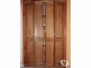 Portes placard bois clasf for Porte de placard pliante en bois