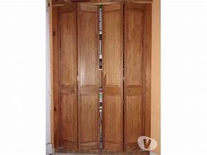 Portes placard bois clasf for Porte placard pliante bois
