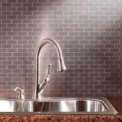 aluminum kitchen backsplash aspect subway matted 12 in x 4 in metal decorative tile backsplash in brushed stainless 1 sq