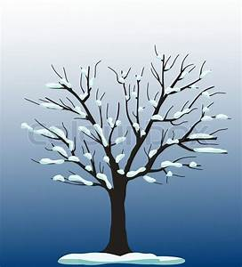 Vector tree with snow stock vector