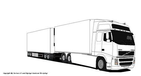 Kleurplaat Volvo Vrachtwagen by Kleurplaat Vrachtwagen Met Oplegger Scania Malvorlagen Daf