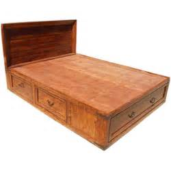 King Platform Bed 12 Drawers