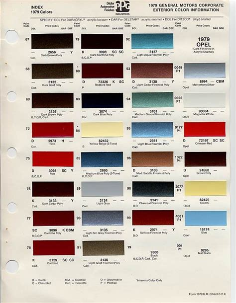 cadillac color codes vin images