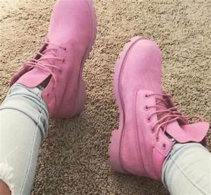 Shoes pink timberlands - Wheretoget