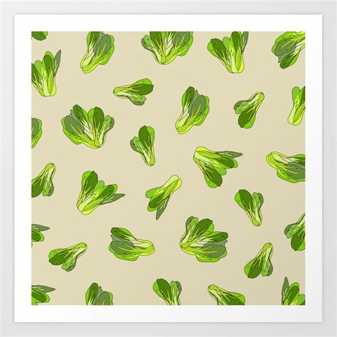 Our team consists of professional designers. Lettuce Bok Choy Vegetable Art Print by notsniw | Society6