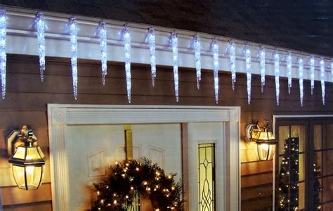 19 hanging icicle christmas lights decoration 9 long 12