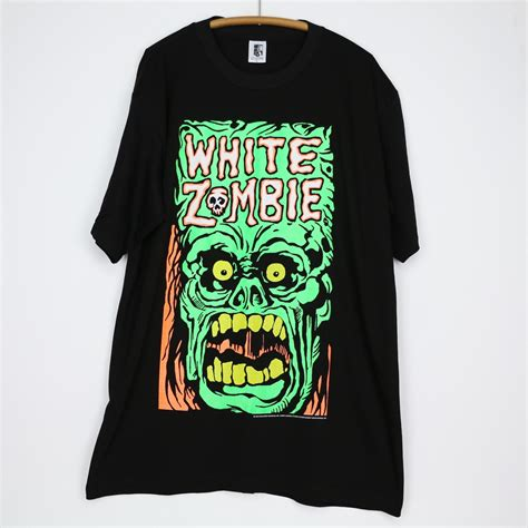 vintage white zombie astro creep  shirt  wyco
