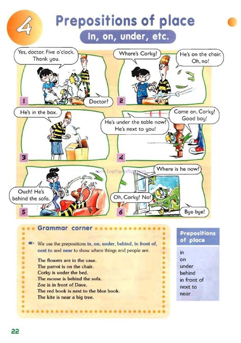 Prepositions Of Place (in, On, Under, Etc)  Pictures Grammar  English Study, Explanations