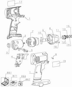 Dewalt Dw054 Cordless Impact Driver Parts  Type 1  Parts
