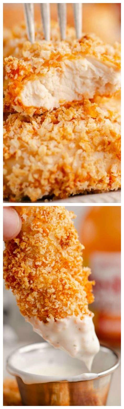 tenders fryer chicken air buffalo recipe panko thecreativebite healthy
