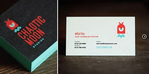 chaotic moon business cards letterpress  mamas sauce