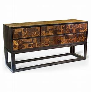 Sway Modern Rustic Chunky Wood Sideboard | Kathy Kuo Home