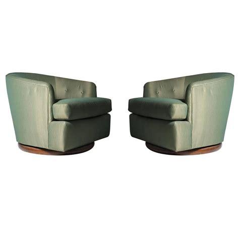 Swivel Club Chairs Swivel Glider Barrel Club Chair Grade C by Milo Baughman Gliding Swivel Barrel Back Club Chairs For