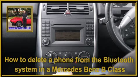 Mercedes bluetooth hier bestellt : How to delete a phone from the bluetooth system in a Mercedes Benz B Class 2 0 B180 CDI SE ...
