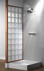 saverbat panneaux en briques de verre joint silicone With porte d entrée pvc avec mur en brique de verre pour salle de bain