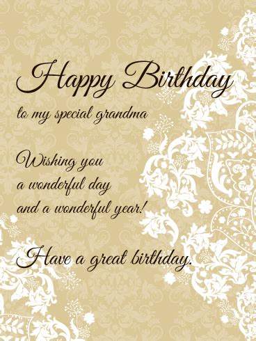 special grandma elegant birthday card birthday