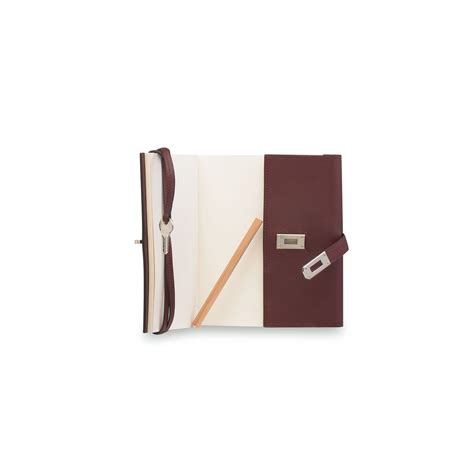 garniture de bureau en cuir carnet secret en cuir prune garniture en