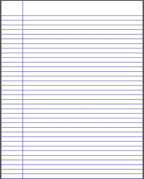 notebook paper template for word best photos of college ruled paper template word college ruled lined paper template college