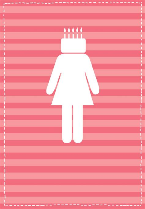 printable   birthday girl greeting card happy