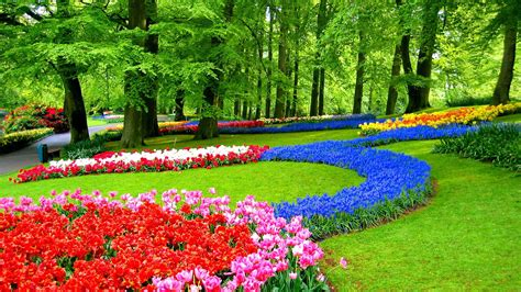 Garden Wallpapers Desktop by Summer Colorful Gardens Hd Wallpapers