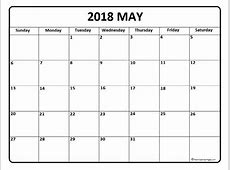 May 2018 Printable Calendar printable calendar templates