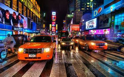 Square Times York Wallpapers Traffic Ny Streets