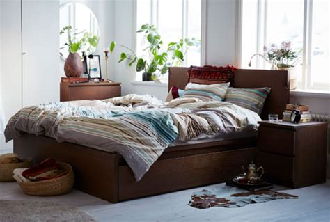 meubles de chambre à coucher ikea malm série ikea