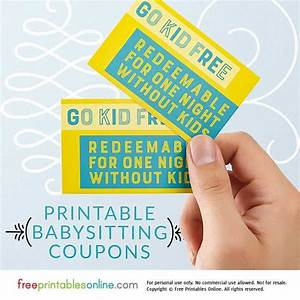 Printable Coupons Without Downloads Go Kid Free Babysitting Coupon Free Printables Online