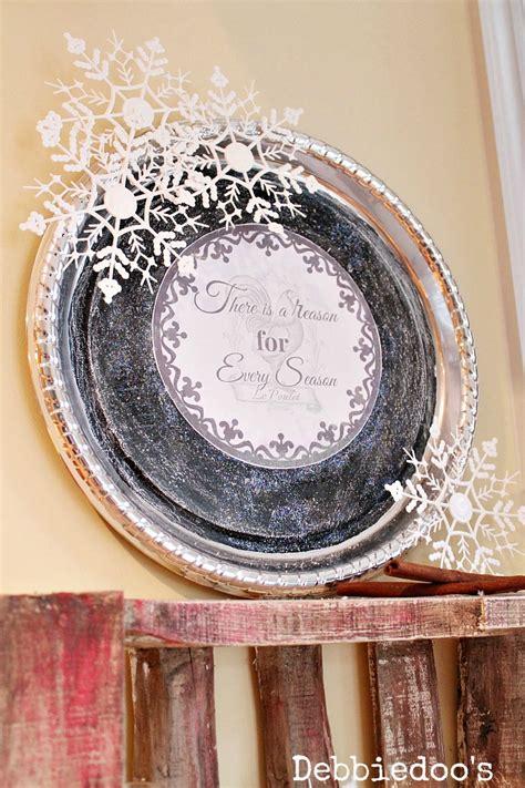 sparkle bathroom mirror dollar tree winter platter debbiedoos