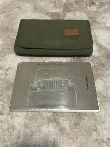 2002 Jeep Wrangler Owners Manual With Case Oem Free