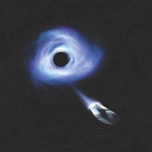 Could a spacecraft escape a black hole?