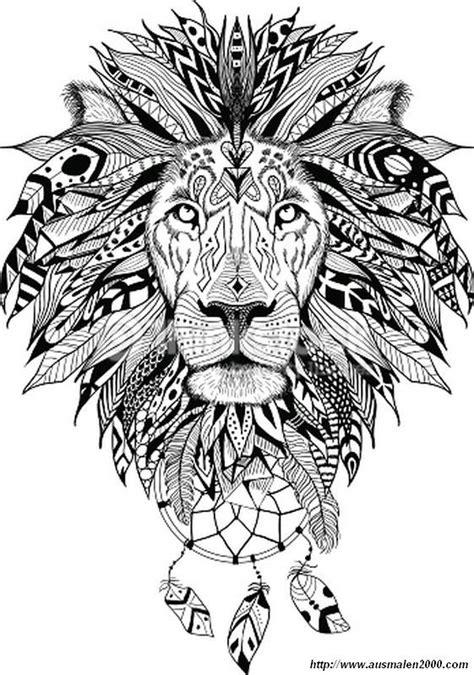 ausmalbild Das wilde Tier | Löwen tätowierung