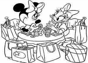 Minnie Mouse Daisy Duck Coloring Coloring Pages