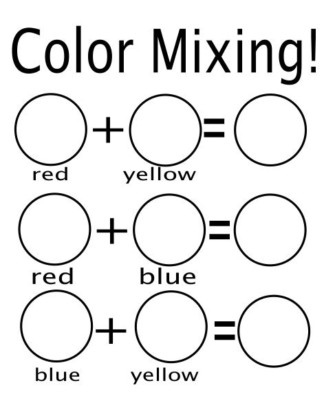 color mixing worksheet email me for pdf education colors worksheets and color