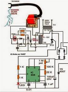 Electronic Circuit Projects  A Homemade Fence Charger  Energizer Circuit Explained