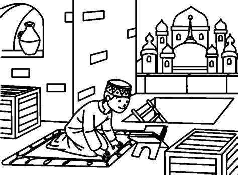 Muslim Coloring Pages Kids
