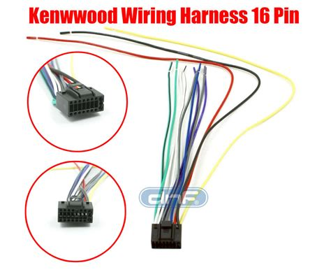 Kenwood Car Stereo Wiring Harnes by Kenwood Wiring Harness 16 Pin Kdc 138 Kdc 215s Kdc 217
