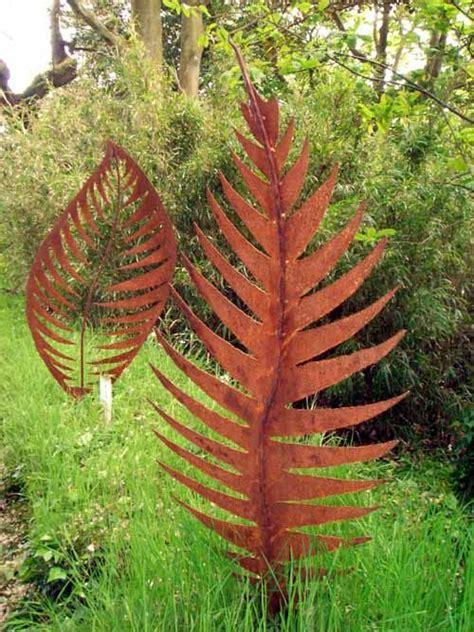 Sculpture 'leaf Form I (large Metal Rowan Leaf Sculpture