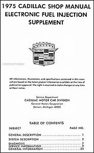 1975 Cadillac Electronic Fuel Injection Repair Shop Manual