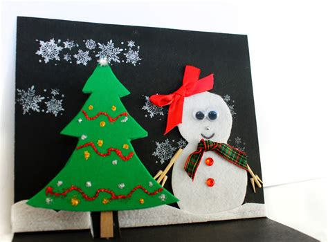 Easy Christmas Card Craft For Kids Fireplace And Tv On Same Wall Brick Makeover White Corner Stand Natural Stone Fireplaces Install Outdoor Tulsa Cast Iron For Sale Bromwell