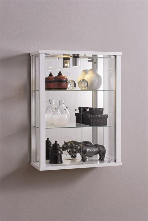 wall mounted glass display cabinet retail or