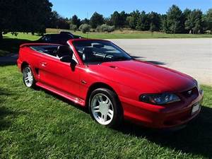 1FALP45X6TF149333 - 1996 96 Ford Mustang GT convertible low miles no reserve NR not cobra 1997 1998