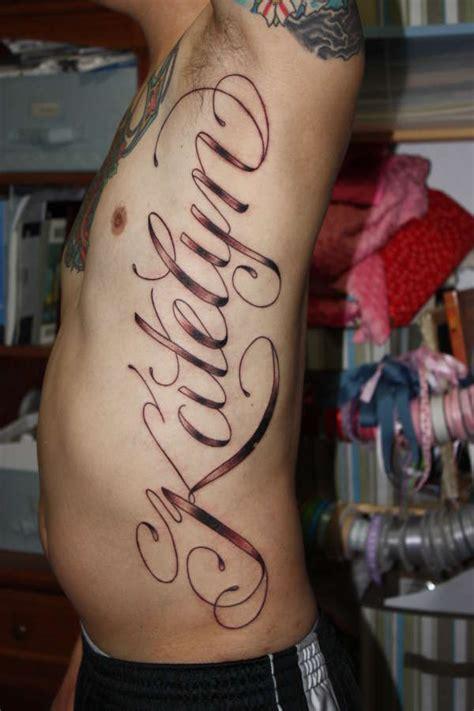 tattoo fonts  ribs