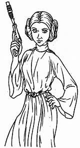 Princess Leia Coloring Lei Printable Getcolorings sketch template