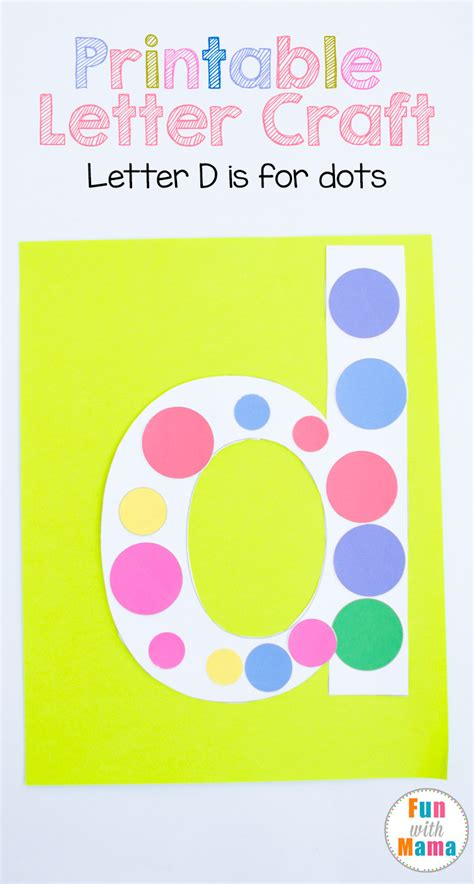 letter d crafts printable letter d crafts d is for dots with 22798 | letter d craft